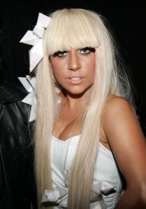Lady Gaga poking the bible belt